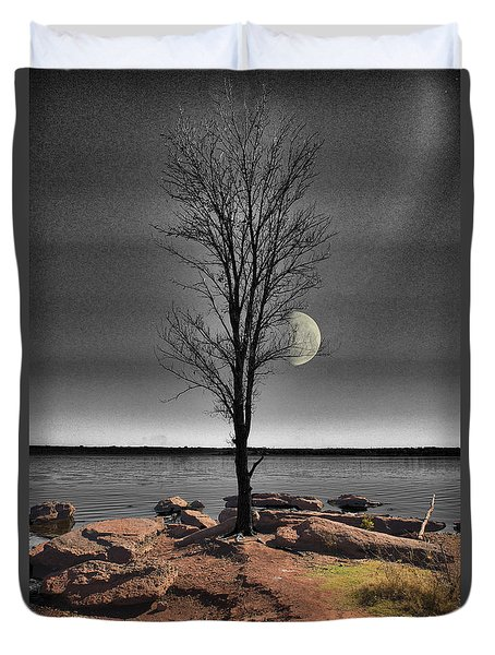 The Lonely Tree Duvet Cover by Betty LaRue