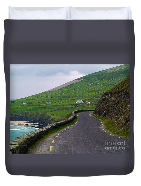 The Long And Winding Road Duvet Cover by Patricia Griffin Brett