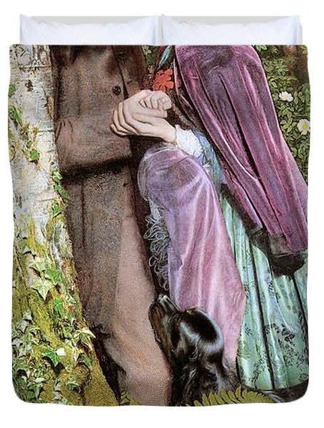 The Long Engagement Duvet Cover by Arthur Hughes