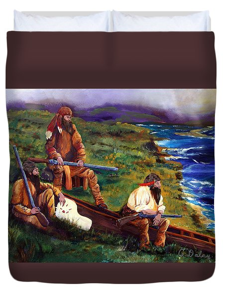 The Long Hunters Duvet Cover by Gail Daley