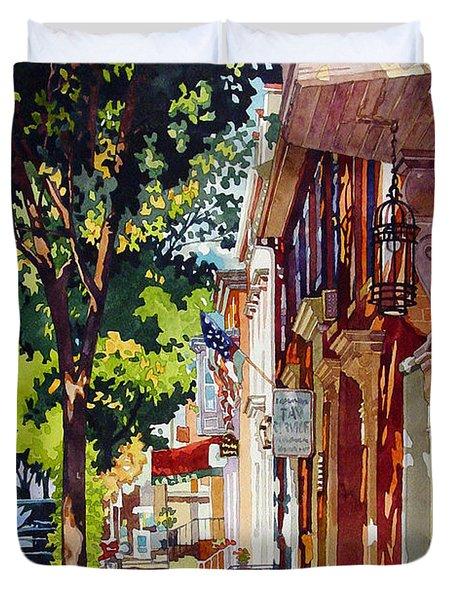 The Long Walk To Market Duvet Cover