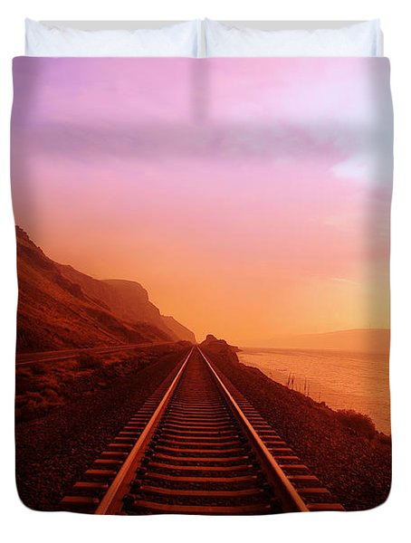 The Long Walk To No Where  Duvet Cover
