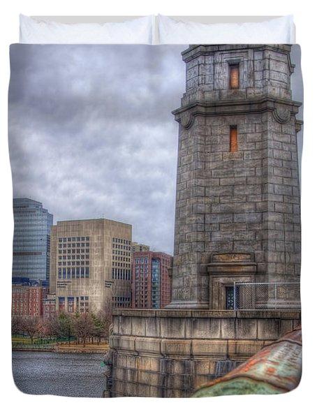 The Longfellow Bridge - Boston Duvet Cover by Joann Vitali