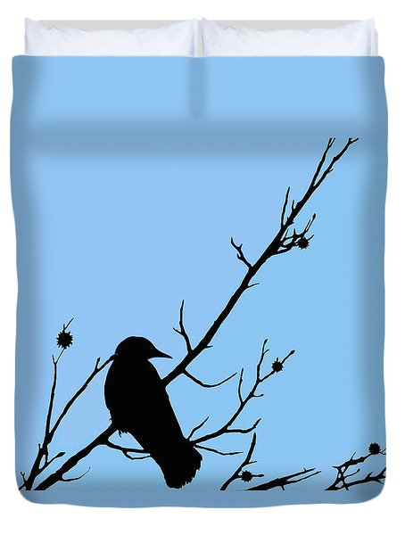 The Crows Lookout Post Duvet Cover