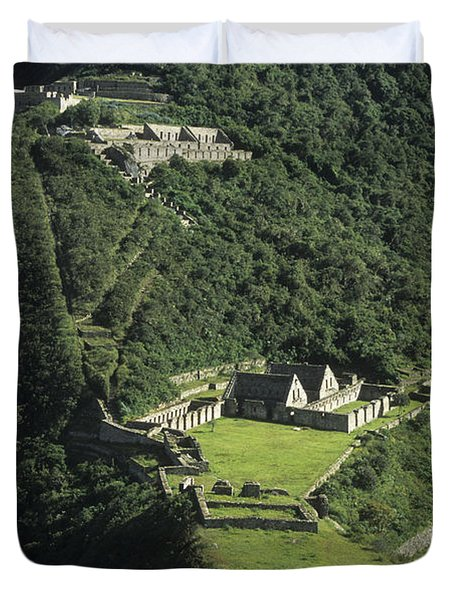 The Lost City Of Choquequirao Duvet Cover