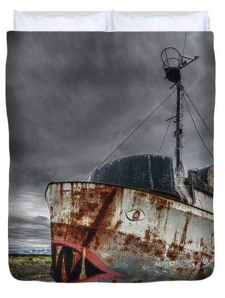 The Lost Fleet Jaws Duvet Cover