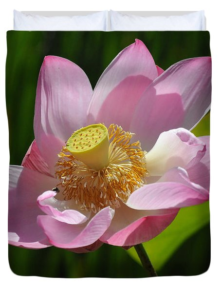 Duvet Cover featuring the photograph The Lotus by Vivian Christopher