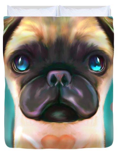 The Love Pug Duvet Cover