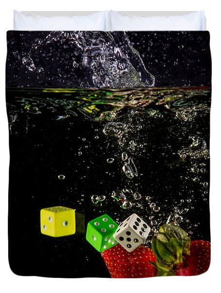 The Lucky 7 Splash Duvet Cover by Rene Triay Photography