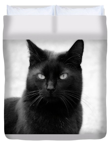 The Lucky Black Cat Duvet Cover