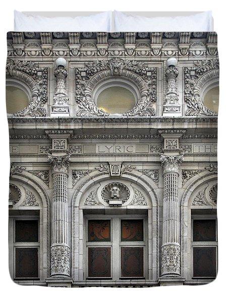 The Lyric Theatre In New York Duvet Cover