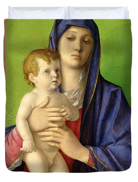 The Madonna Of The Trees Duvet Cover by Giovanni Bellini