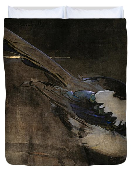 The Magpie Duvet Cover by Joseph Crawhall