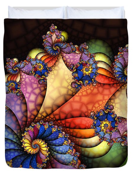 The Maharajahs New Hat-fractal Art Duvet Cover