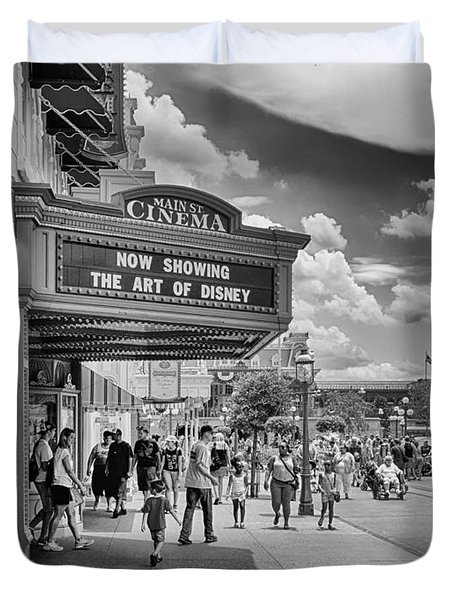 The Main Street Cinema Duvet Cover by Howard Salmon