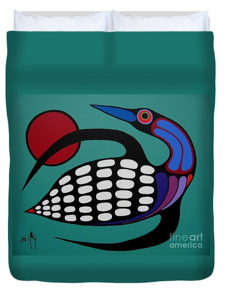 The Majestic Loon Duvet Cover