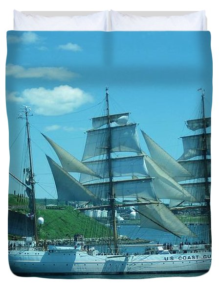 The Majestic Us Coast Guard Duvet Cover by John Malone