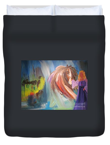 The Majik Of Horses Duvet Cover