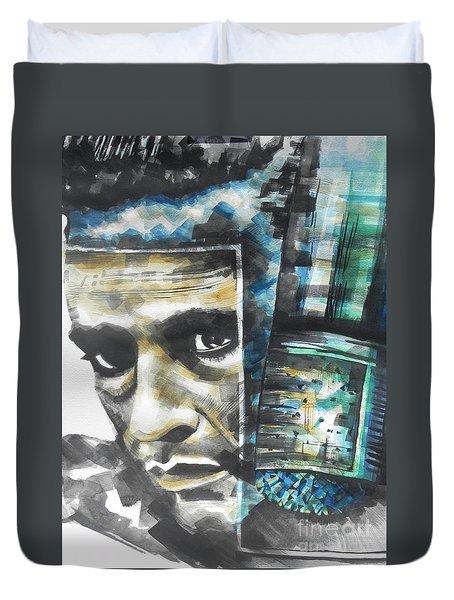 The Man In Black  Singer Johnny Cash Duvet Cover by Chrisann Ellis