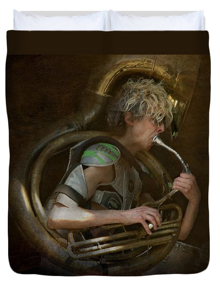The Man - The Tuba Duvet Cover