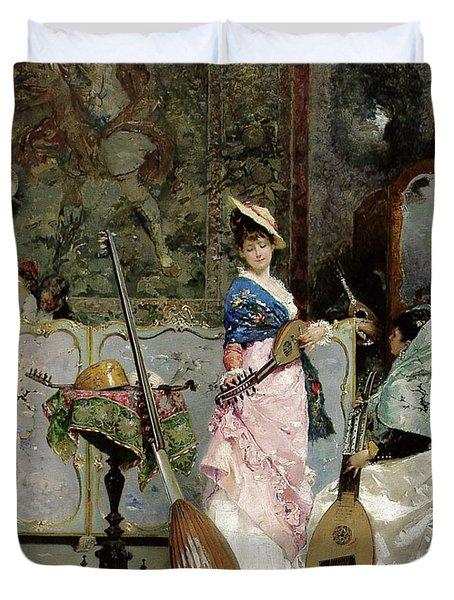 The Mandolin Shop Duvet Cover by Vincenzo Capobianchi
