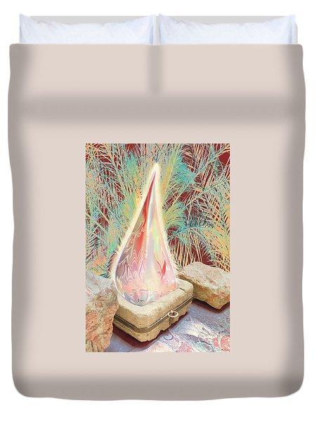 The Manger Is Empty But The Light Still Shines Duvet Cover by Jennifer Kathleen Phillips