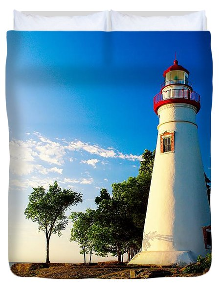 The Marblehead Light Duvet Cover