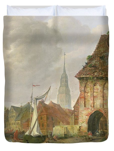The March Gate In Buxtehude Duvet Cover