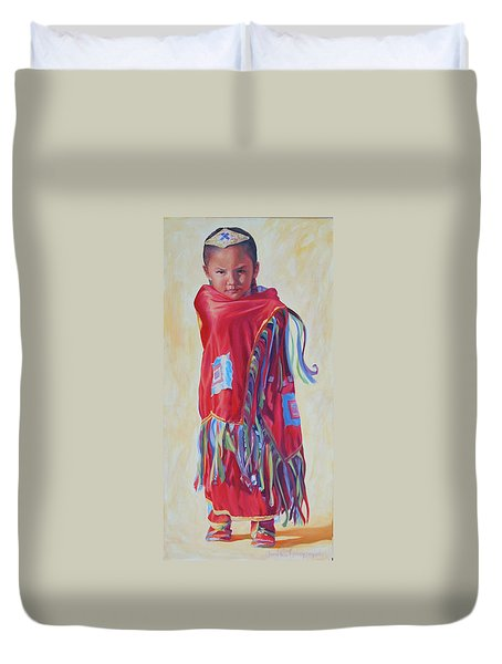 The March Of Red Butterfly Duvet Cover