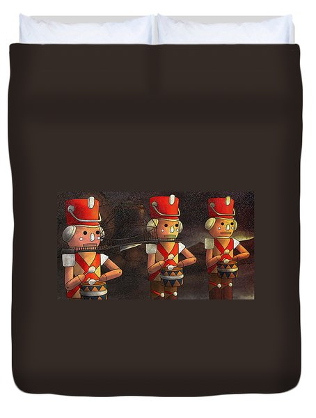 The March Of The Wooden Soldiers Duvet Cover