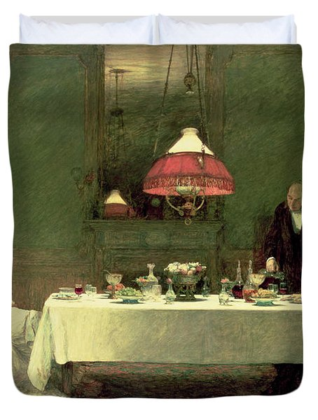 The Marriage Of Convenience, 1883 Duvet Cover by Sir William Quiller Orchardson