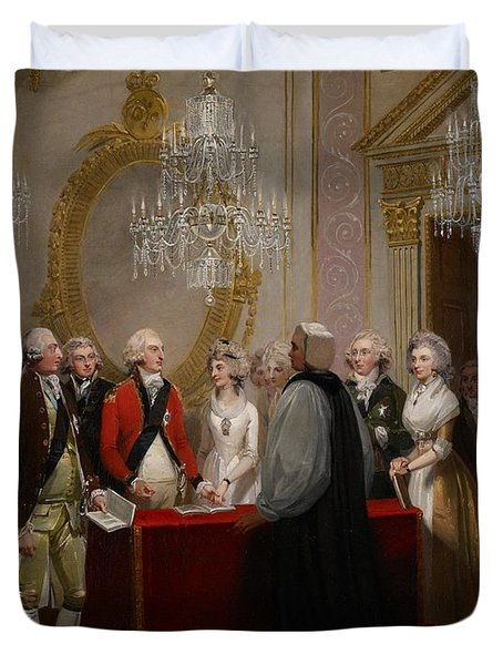 The Marriage Of The Duke And Duchess Of York Duvet Cover by Henry Singleton