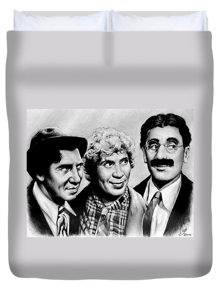 The Marx Brothers Duvet Cover by Andrew Read