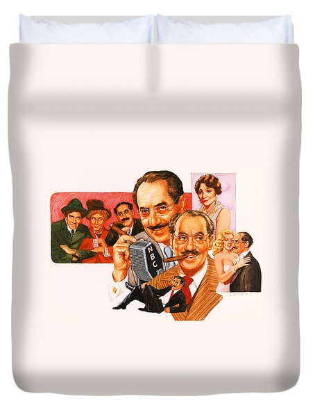 The Marx Brothers Duvet Cover
