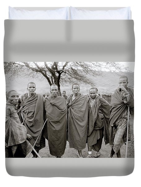 The Masai Duvet Cover by Shaun Higson