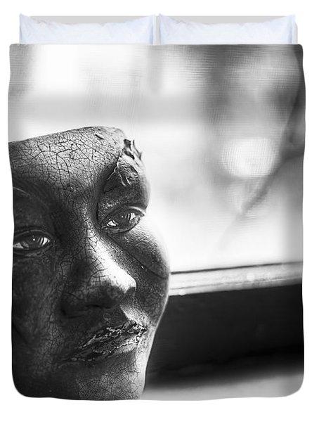 The Mask Duvet Cover by Scott Norris