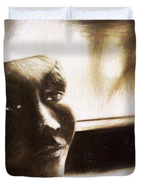 The Mask Sketch Duvet Cover
