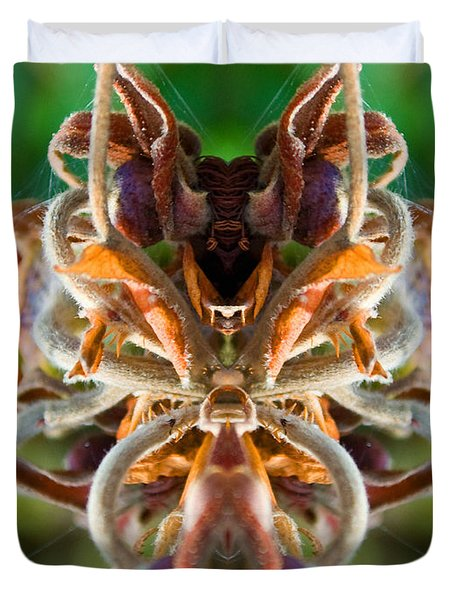 Duvet Cover featuring the photograph The Mating by WB Johnston