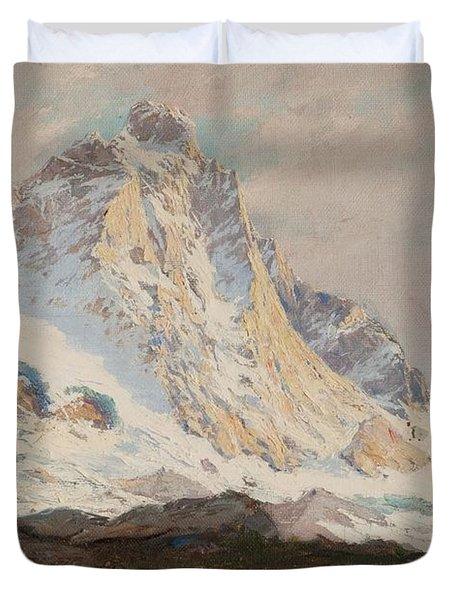 The Matterhorn, 1910 Duvet Cover