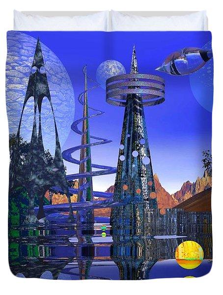 The Mechanical Wonder Duvet Cover by Mark Blauhoefer