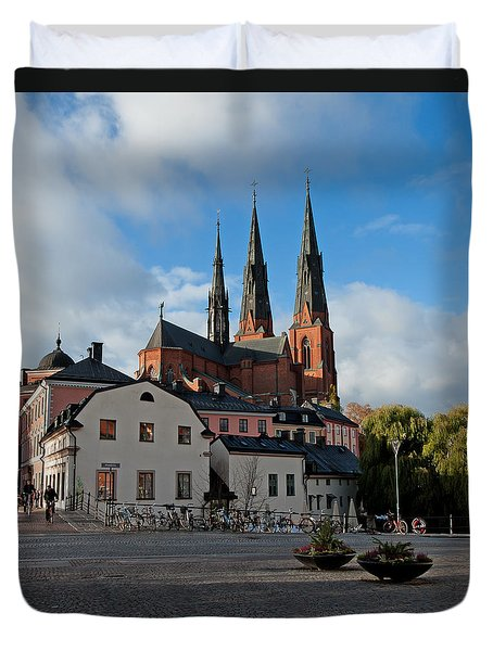 The Medieval Uppsala Duvet Cover by Torbjorn Swenelius
