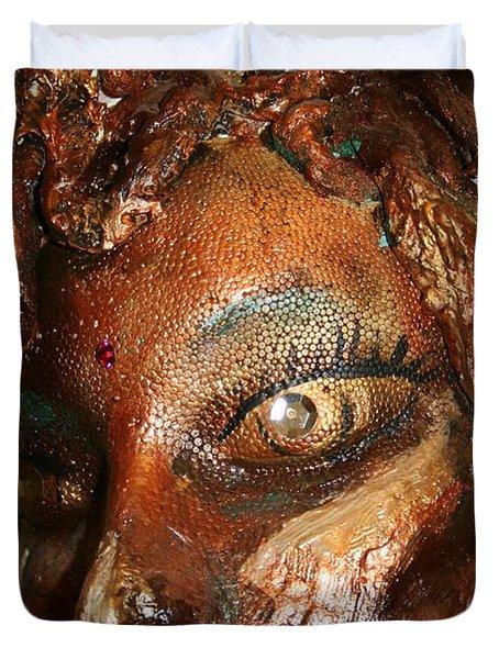 The Medusa Snare  Duvet Cover by Avonelle Kelsey