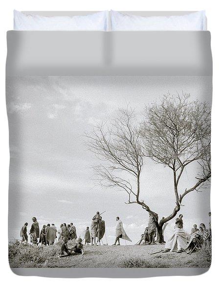 The Meeting Duvet Cover by Shaun Higson