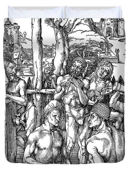 The Men's Bath, C1497 Duvet Cover