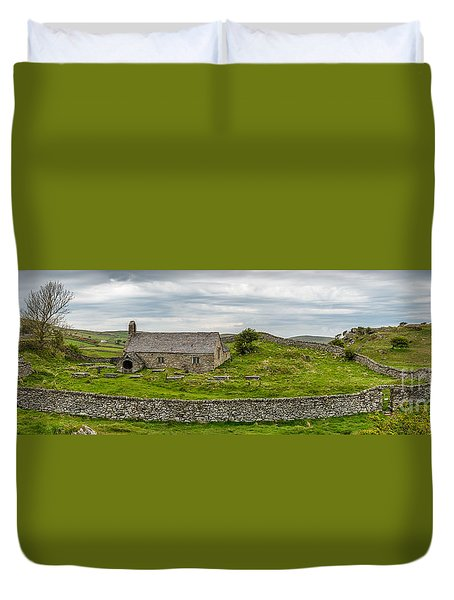 The Mens Chapel Duvet Cover by Adrian Evans