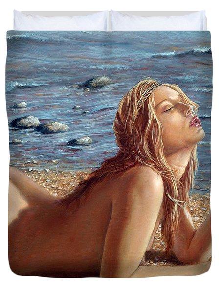 The Mermaids Friend Duvet Cover