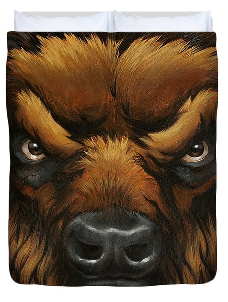 The Mighty Bison Duvet Cover