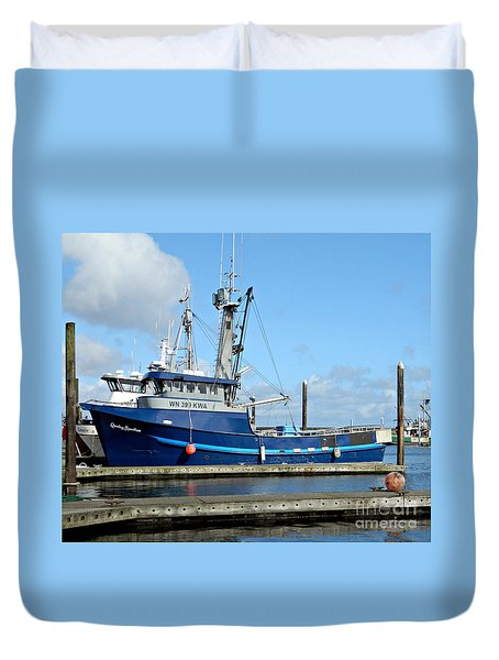 The Mighty Blue Duvet Cover by Chalet Roome-Rigdon
