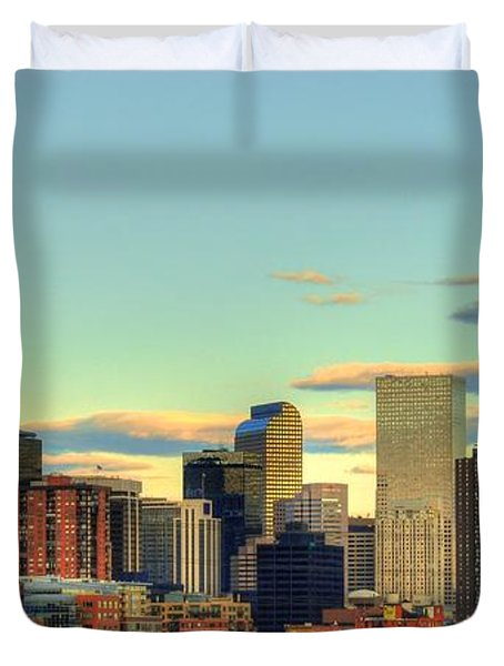 Duvet Cover featuring the photograph The Mile High City by Anthony Wilkening