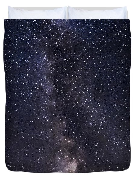 The Milky Way From Phippsburg Maine Usa Duvet Cover by Patrick Fennell